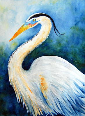 Rosedahl Painting - Great Blue Heron by Sarah Rosedahl