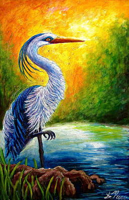 Painting - Great Blue Heron by Sebastian Pierre