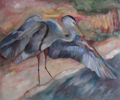 Painting - Great Blue Heron by Susan Hanlon