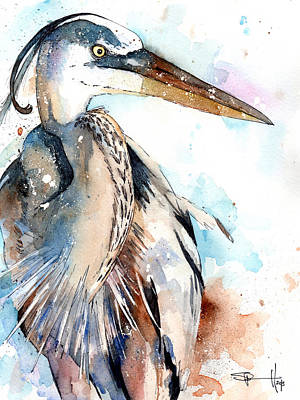 Waterfowl Painting - Great Blue by Sean Parnell