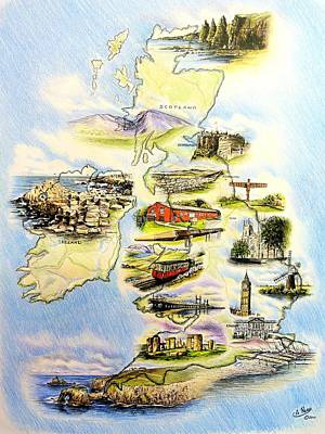 Fantasy Drawings - Great Britain and Ireland by Andrew Read