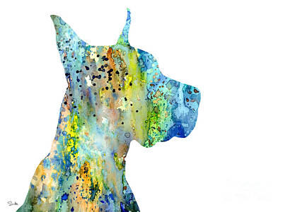 Painting - Great Dane 6 by Watercolor Girl