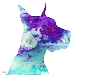 Painting - Great Dane 7 by Watercolor Girl