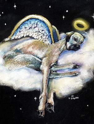 Great Dane Angel Leggy Art Print by Darlene Grubbs