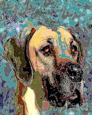 Great Dane Digital Art - Great Dane by Dalon Ryan