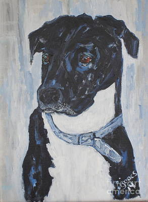 Painting - Great Dane Lab Mix by Shelley Jones