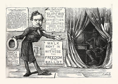 Great Democratic Moral Show, Engraving 1880, Us, Usa Art Print