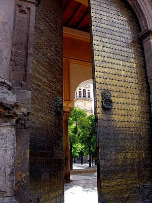Photograph - Great Door - Cordoba Spain by Jacqueline M Lewis