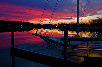 Photograph - Great Egg Harbor River Sunset by Greg Vizzi