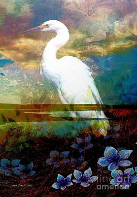 Photograph - Great Egret by Annie Zeno