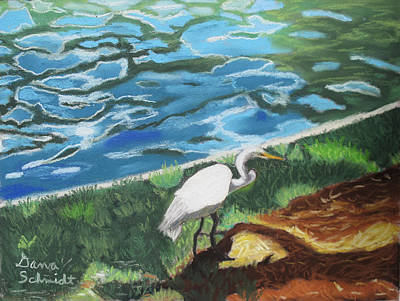 Painting - Great Egret In Florida by Dana Schmidt