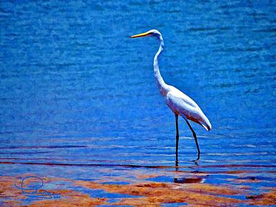Cafe Art Photograph - Great Egret by Ludwig Keck