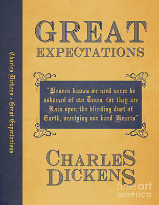 Book Covers Drawing - Great Expectations By Charles Dickens Book Cover Poster Art 1 by Nishanth Gopinathan