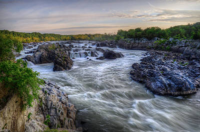Art Print featuring the photograph Great Falls  by Michael Donahue
