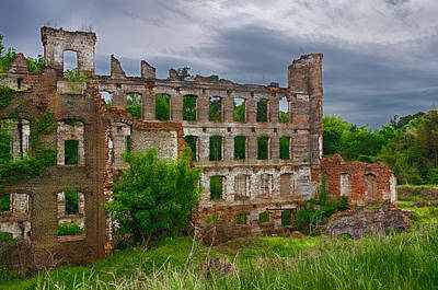 Great Falls Mill Ruins Art Print