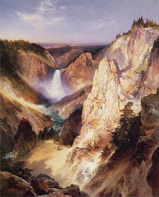 Great Falls Of Yellowstone Print by Thomas Moran