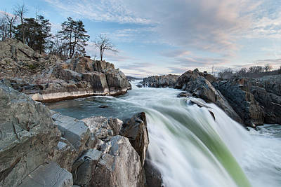 Great Falls On The Potomac River Art Print by Mark VanDyke