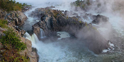 Photograph - Great Falls Panoramic by Bernard Chen