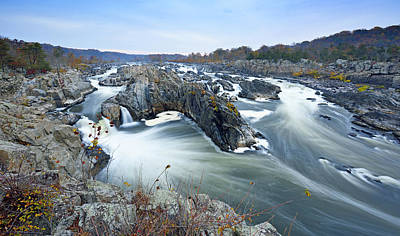 Great Falls Park On The Potomac River Art Print by Brendan Reals