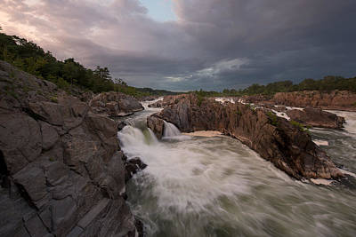 Photograph - Great Falls Rugged Beauty by Bernard Chen
