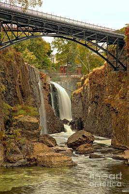 Photograph - Great Falls Under The Bridge by Adam Jewell