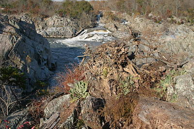 Rock Photograph - Great Falls Va - 121223 by DC Photographer