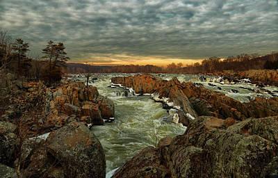 Great Falls Virginia Winter 2014 Art Print