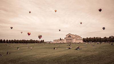Great Forest Park Balloon Race Art Print