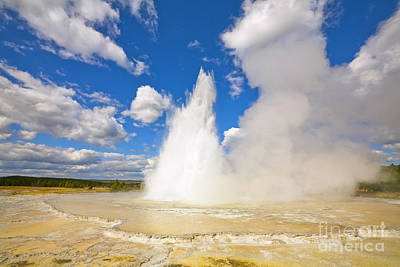 Photograph - Great Fountain Geyser In Yellowstone  by Yva Momatiuk and John Eastcott