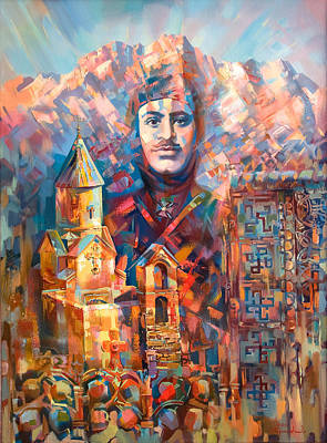 Painting - Great Garegin Nzhdeh by Meruzhan Khachatryan