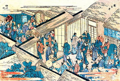 Great Gate New Yoshiwara 1811 Art Print by Padre Art