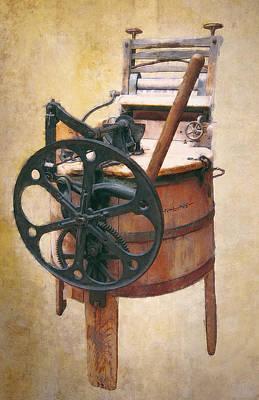 Vintage Washing Machine Digital Art - Great-grandmother's Washing Machine by Daniel Hagerman