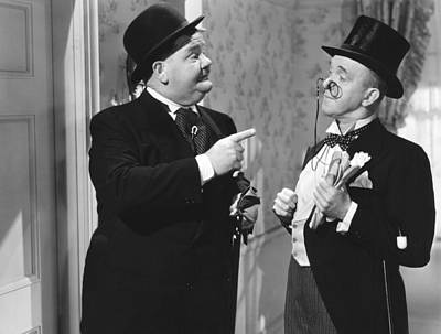 Great Guns, From Left Oliver Hardy Art Print