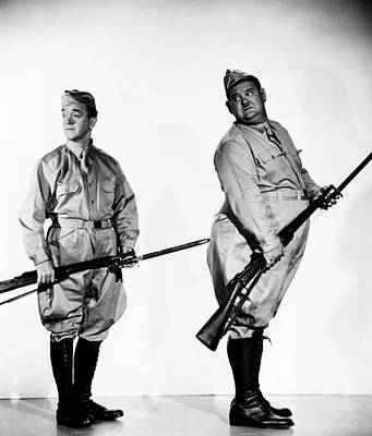 Publicity Shot Photograph - Great Guns, From Left Stan Laurel by Everett