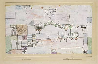Great Hall For Singers Art Print by Paul Klee