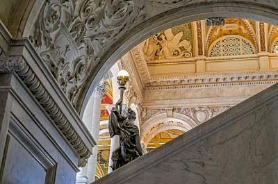 Photograph - Great Hall Library Of Congress by Susan Candelario