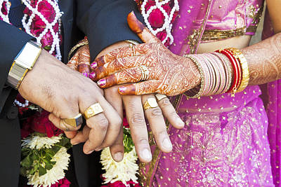 Mendhi Photograph - Great Hindu Wedding Now You Are Are Horizontall by Kantilal Patel