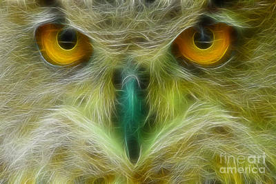 Gingrich Photograph - Great Horned Eyes Fractal by Gary Gingrich Galleries