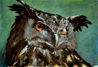 Great Horned Owl Art Print by Carlo Ghirardelli