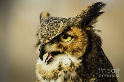 Great Horned Owl Art Print by Julieanna D