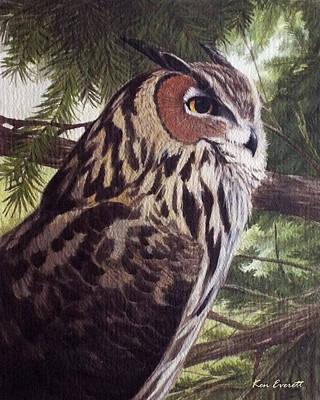 Great Horned Owl Art Print by Ken Everett