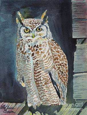 Painting - Great Horned Owl by LeAnne Sowa