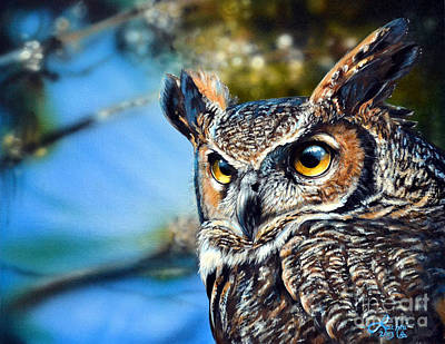 Great Horned Owl Original by Lisa Clough Lachri