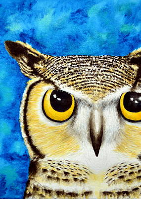 Rosedahl Painting - Great Horned Owl by Sarah Rosedahl