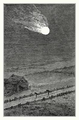 Iowa Photograph - Great Iowa Meteor by Detlev Van Ravenswaay/science Photo Library