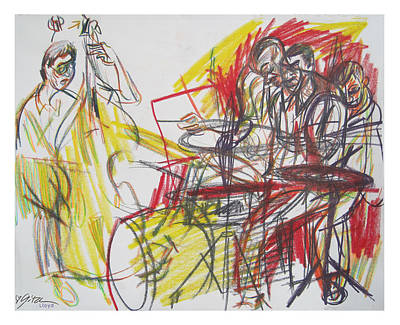 Great Jazz Art Print by Gita Lloyd
