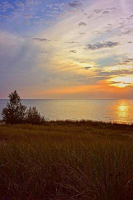 Great Lake Great Sunset Art Print by Michelle Calkins