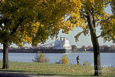 Photograph - Great Lakes Freighter by Jim West