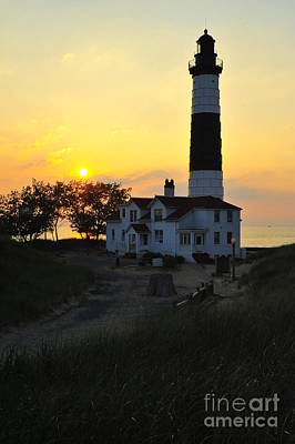 Great Lakes Lighthouse Big Sable Point Art Print by Terri Gostola