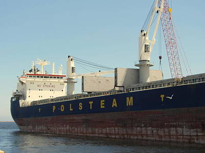 Photograph - Great Lakes Ship Polsteam 5 by Anita Burgermeister